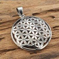 Blume des Lebens Schmuck Amulett aus 925 Sterling Silber