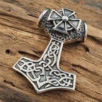 Thors Hammer Schmuck Amulett aus 925 Sterling Silber