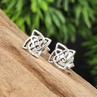 Keltische Knoten Ohrstecker aus 925 Sterling Silber
