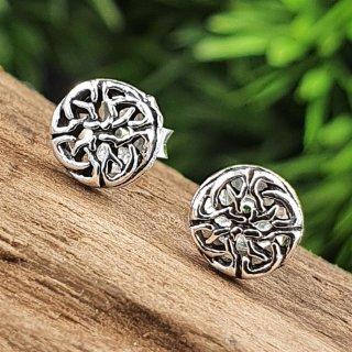 Keltische Knoten Ohrring aus 925 Sterling Silber