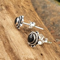 Onyx Ohrring aus 925 Sterling Silber