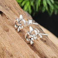 Fleurdelise Ohrstecker aus 925 Sterling Silber