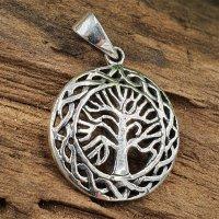 Lebensbaum Schmuckanhänger aus 925 Sterling Silber