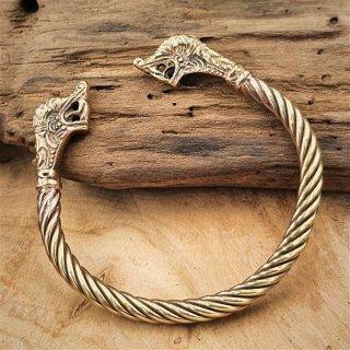 Armreif aus Bronze mit Drachenköpfen