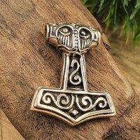 Thors Hammer Schmuckamulett aus Bronze
