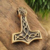 Thors Hammer verziert mit Keltischen Knoten Anhänger...