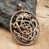 Midgardschlange Schmuckanhänger aus Bronze