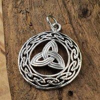 Triqueta umrandet mit Keltischen Knoten Anhänger aus...