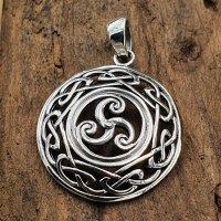 Triskelen Anhänger umrandet mit Keltischen Knoten...