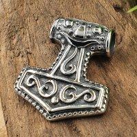 Thors Hammer Schmuck Anhänger aus Edelstahl