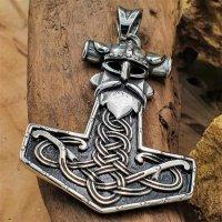 Thors Hammer Anhänger verziert mit Keltischen Knoten...