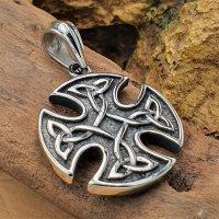 Keltisches Kreuz verziert mit Triquetra aus Edelstahl