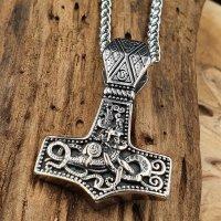 """Edelstahl Halskette Thors Hammer """"THURID""""..."""